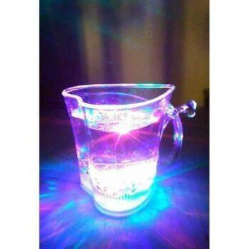 الكوب الفلاشي - كوب مضيء شفاف 7 ألوان LED