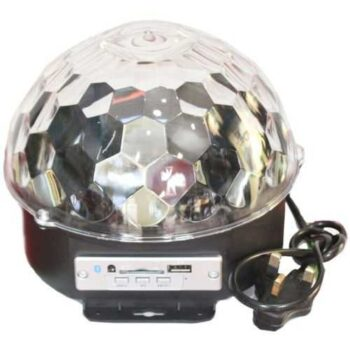 كرة الديسكو الدوارة المضيئة Mp3 LED Crystal Magic Ball Stage Light