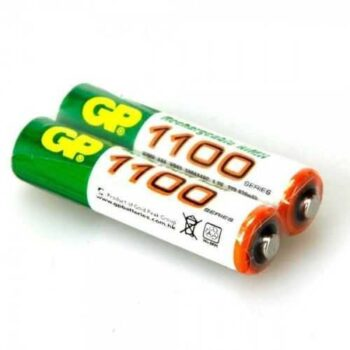 Gp Batteries Rechargeable Batteries - AAA - 1100mAh - 2 Pcs